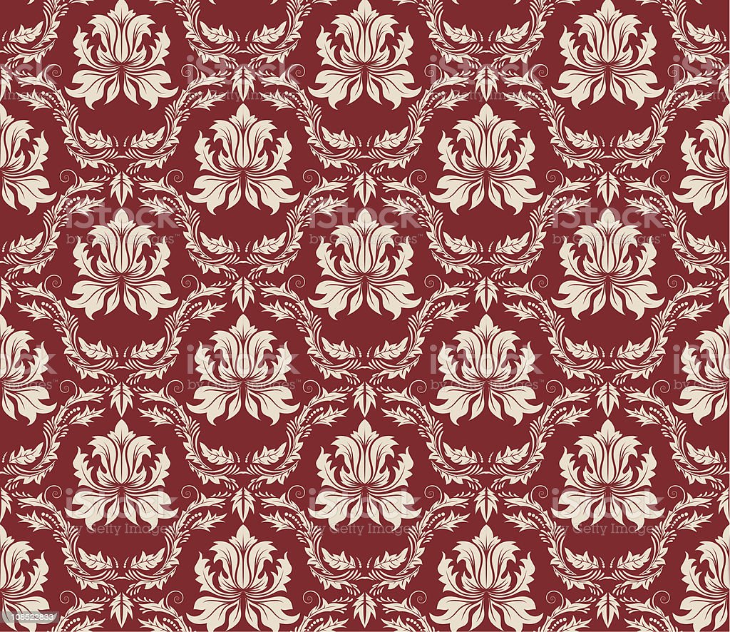 seamless damask pattern royalty-free seamless damask pattern stock vector art & more images of 20th century