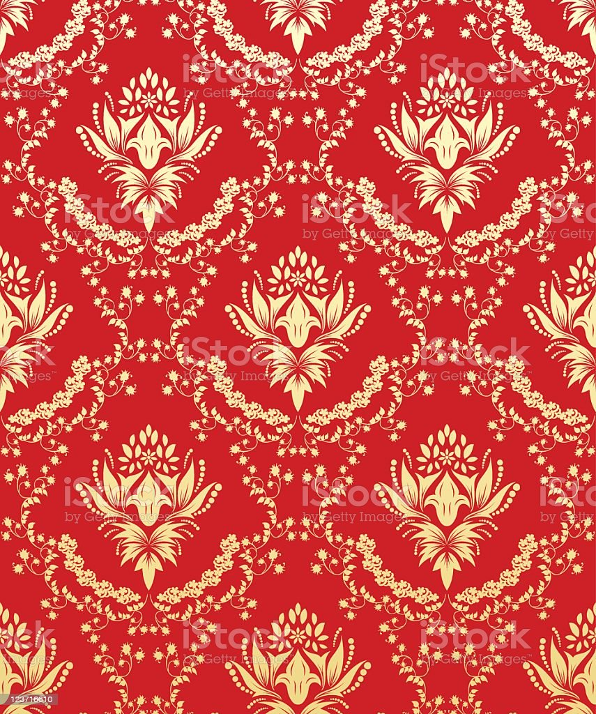 seamless damask pattern royalty-free seamless damask pattern stock vector art & more images of abstract