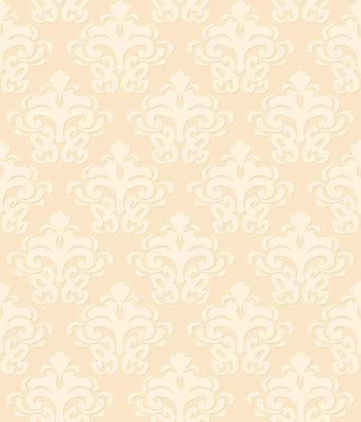 シームレスなダマスク柄 - ロココ調点のイラスト素材/クリップアート素材/マンガ素材/アイコン素材