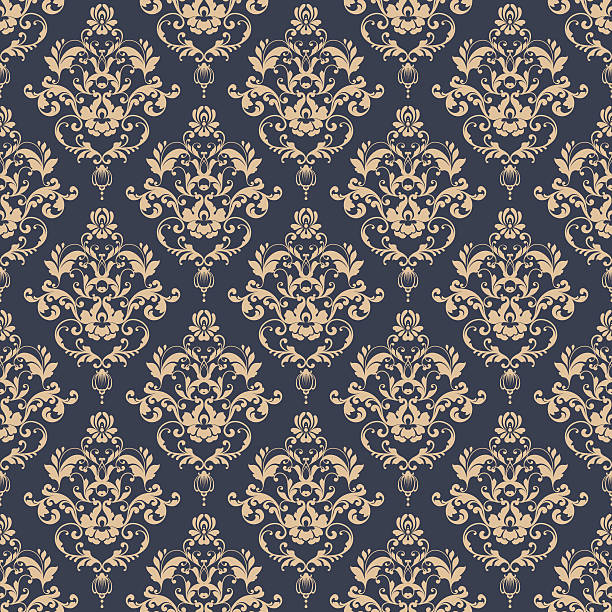 Seamless damask pattern Seamless damask pattern. Ornamental background with pattern mistery stock illustrations