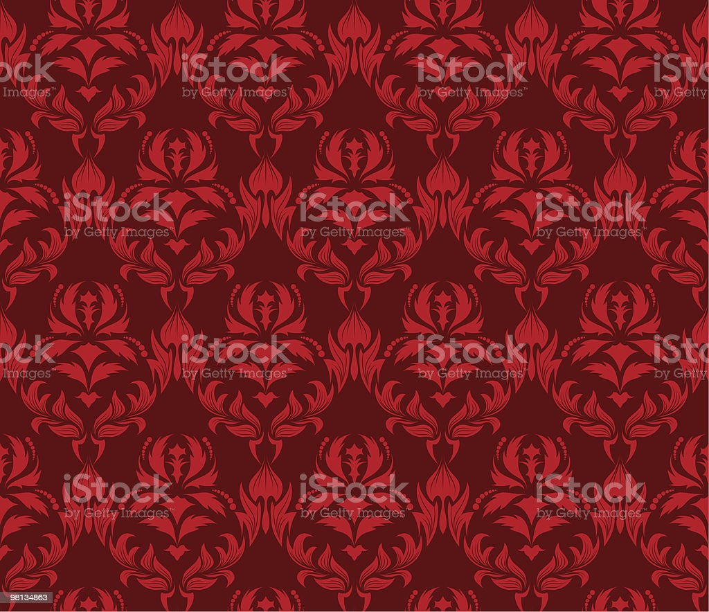 seamless damask pattern royalty-free seamless damask pattern stock vector art & more images of color image