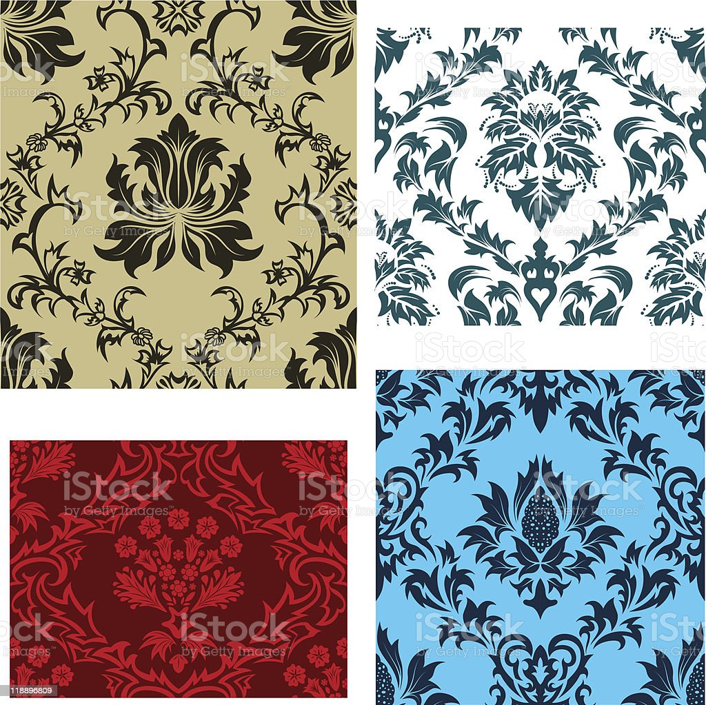 seamless damask patterns set royalty-free seamless damask patterns set stock vector art & more images of abstract
