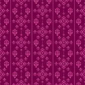 Seamless Damask Wallpaper, Purple, vector art