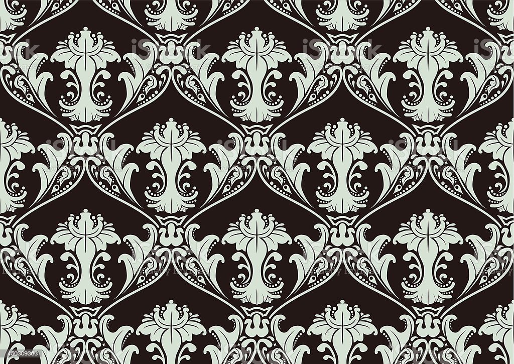 Seamless Damask Wallpaper royalty-free stock vector art