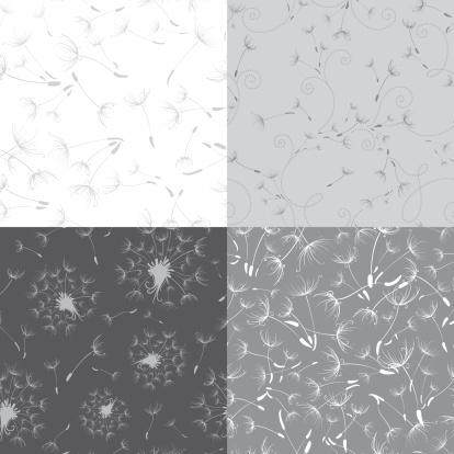 Seamless dandelion textures