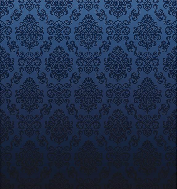 Bezszwowe Tapeta Damasceńska – artystyczna grafika wektorowa