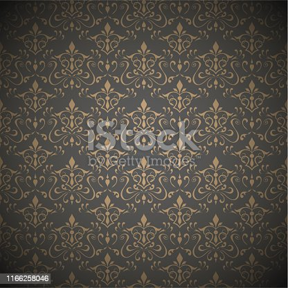 Seamless dark floral wallpaper .Vector illustration