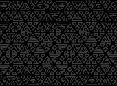 Seamless decorative hand drawn pattern. Ethnic endless background with ornamental decorative elements with traditional ethnic motives, tribal geometric figures.