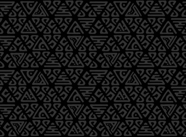 Seamless decorative hand drawn pattern. Ethnic endless background with ornamental decorative elements with traditional ethnic motives, tribal geometric figures. Print for wrapping, vector background Seamless decorative hand drawn pattern. Ethnic endless background with ornamental decorative elements with traditional ethnic motives, tribal geometric figures. mexico stock illustrations