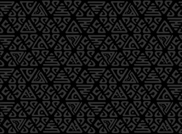 ilustraciones, imágenes clip art, dibujos animados e iconos de stock de patrón dibujado mano decorativa perfecta. etnia sin fin con elementos ornamentales decorativos con motivos étnicos tradicionales, tribales figuras geométricas. imprimir para envolver, vector de fondo - méxico