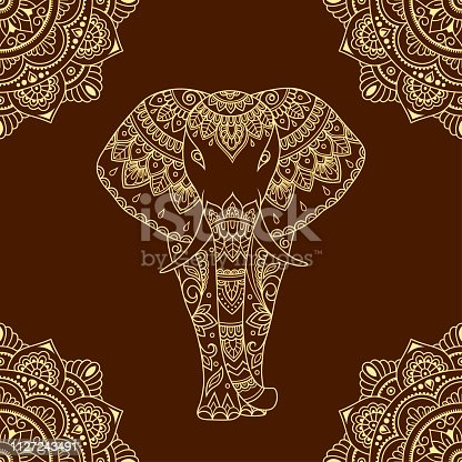Elephant Outline Tattoo Vector For Free Ai Svg And Eps