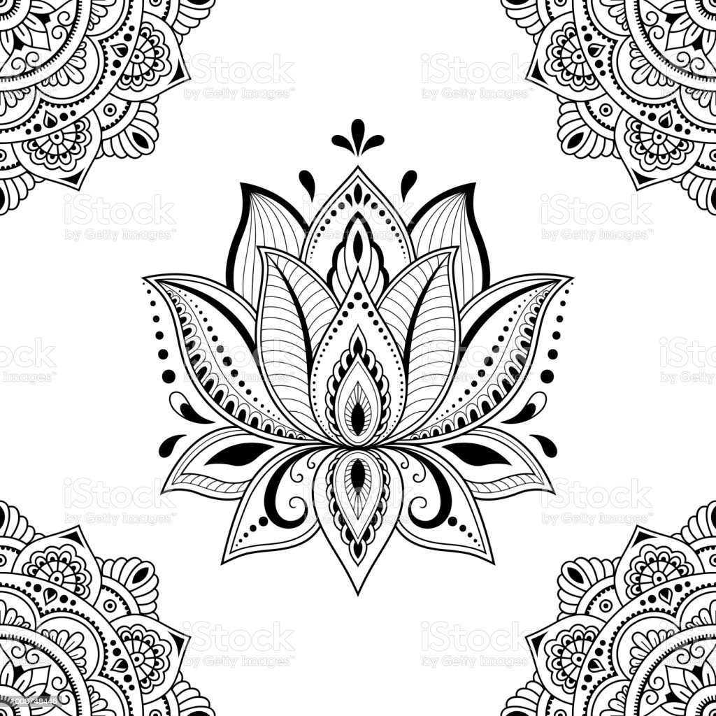 Seamless Decorative Pattern In Ethnic Oriental Style Mandala And
