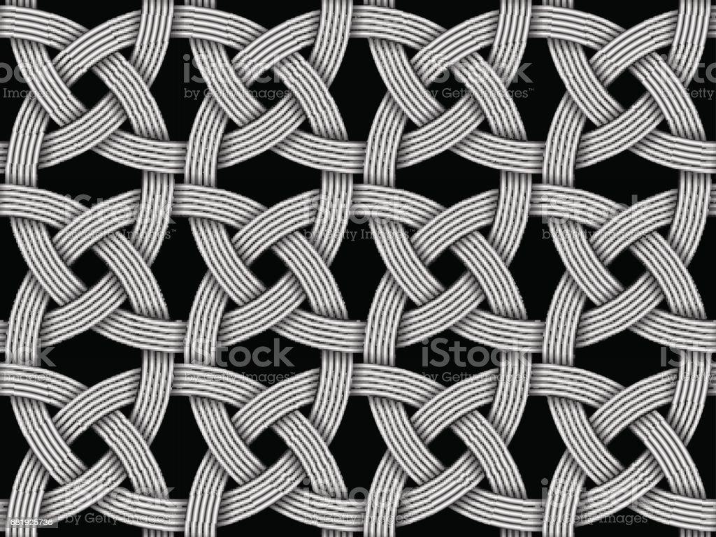 Seamless decorative pattern of intersected fiber. Vector Illustration vector art illustration