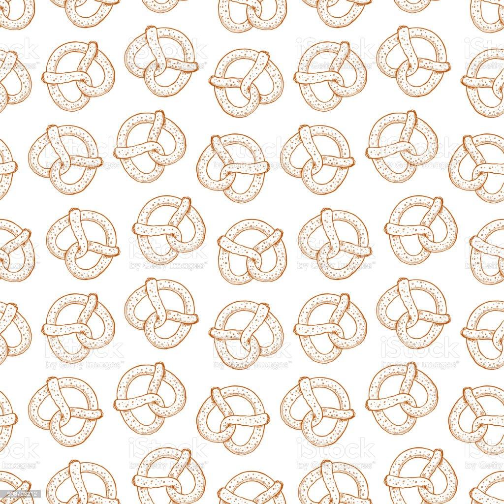 nahtlose leckeren Brezeln – Vektorgrafik