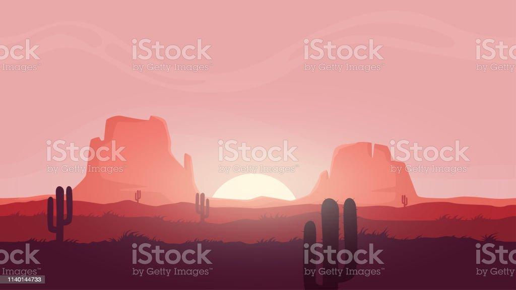 Seamless desert landscape. Beautiful high quality unending...