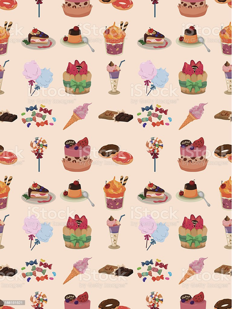 seamless Dessert pattern royalty-free seamless dessert pattern stock vector art & more images of backdrop