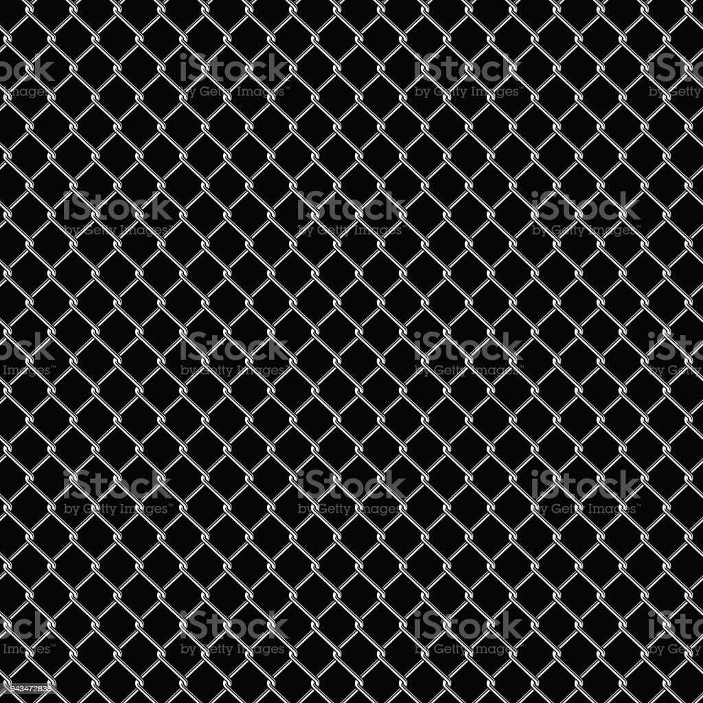 Seamless Detailed Chain Link Fence Pattern Texture Stock Vector Art ...
