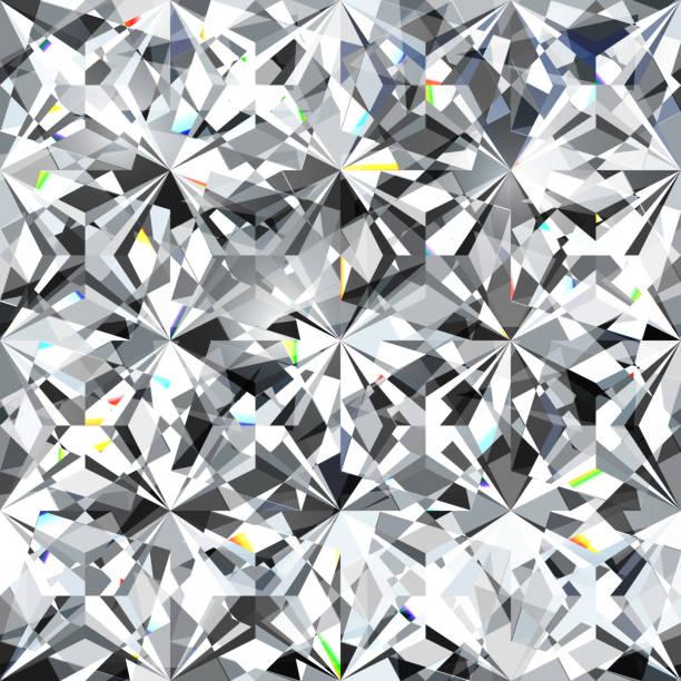 stockillustraties, clipart, cartoons en iconen met naadloze ruitpatroon - illustratie van crystallic achtergrond - diamant