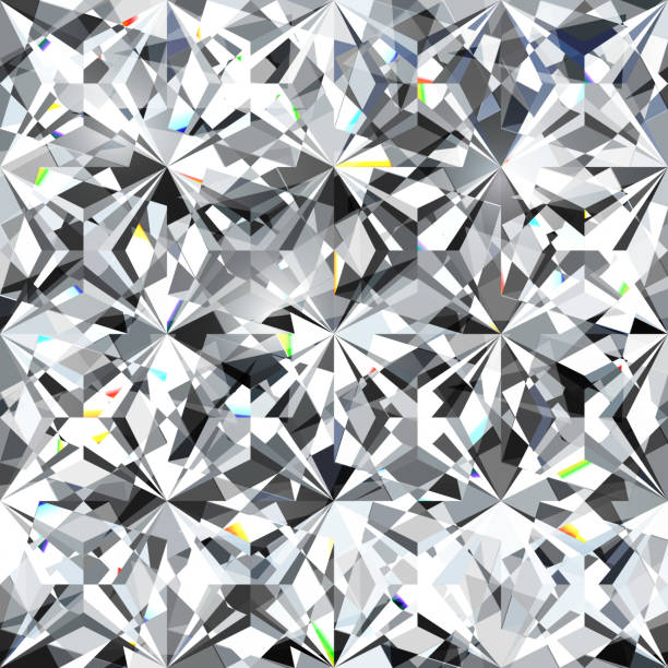seamless diamond pattern - illustration of crystallic background - diamond shaped stock illustrations, clip art, cartoons, & icons