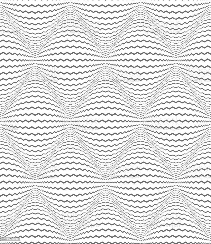 Seamless diamonds pattern. Zigzag lines texture. vector art illustration