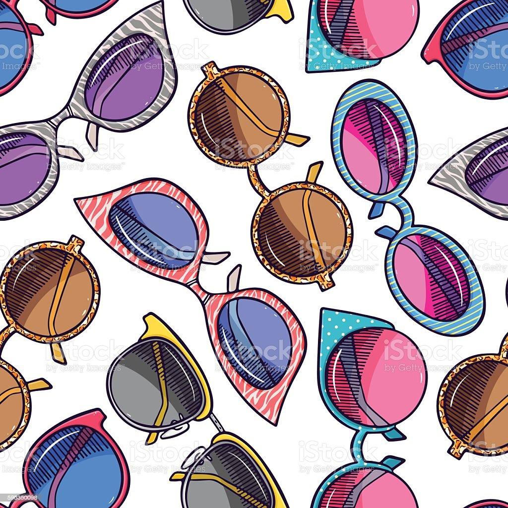 seamless different vintage sunglasses Lizenzfreies seamless different vintage sunglasses stock vektor art und mehr bilder von accessoires