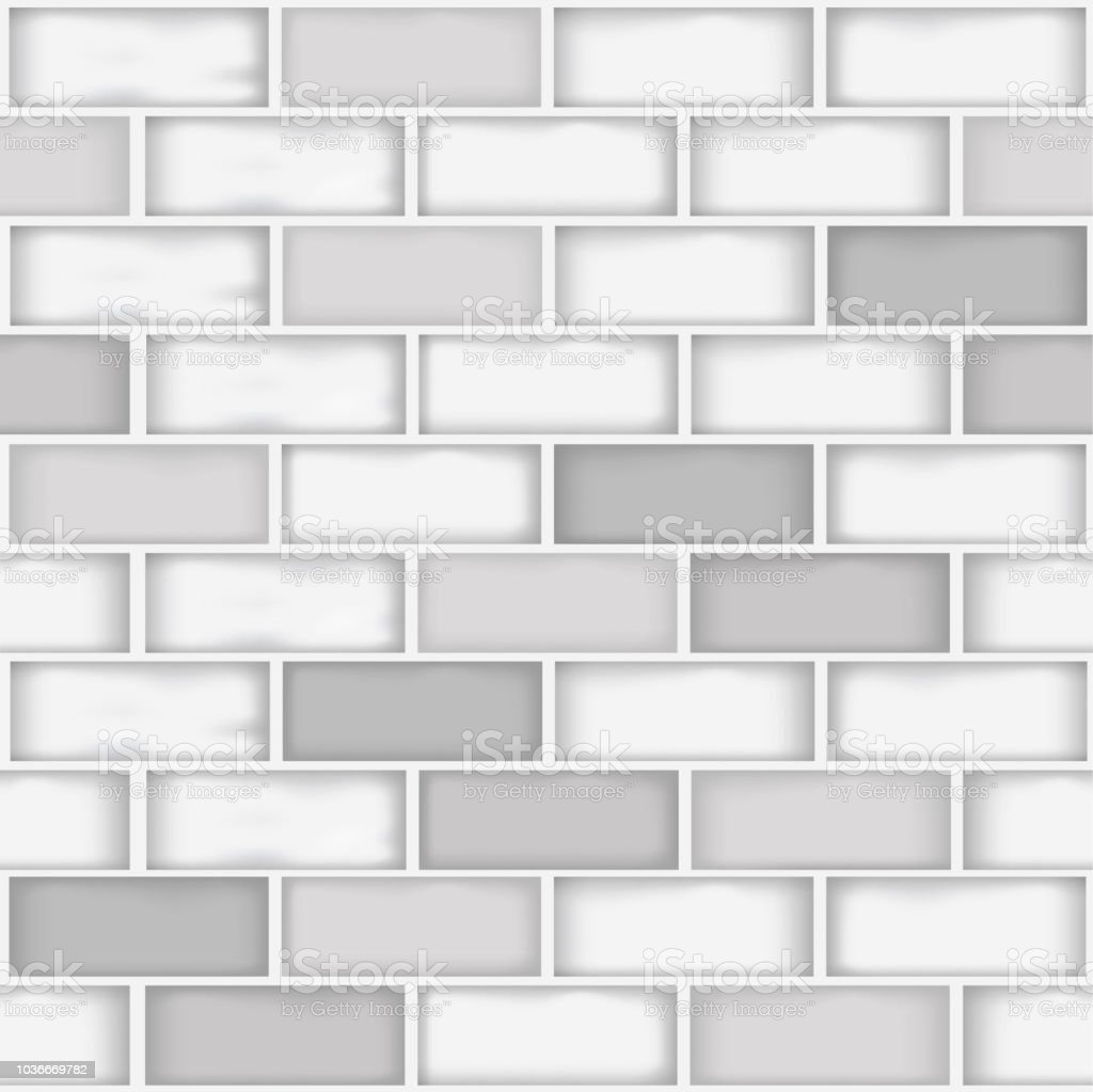 Eine Nahtlose Verschiedenen Weissen Und Grauen Ziegel Wand Farbmuster