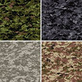 Seamless digital camouflage patterns
