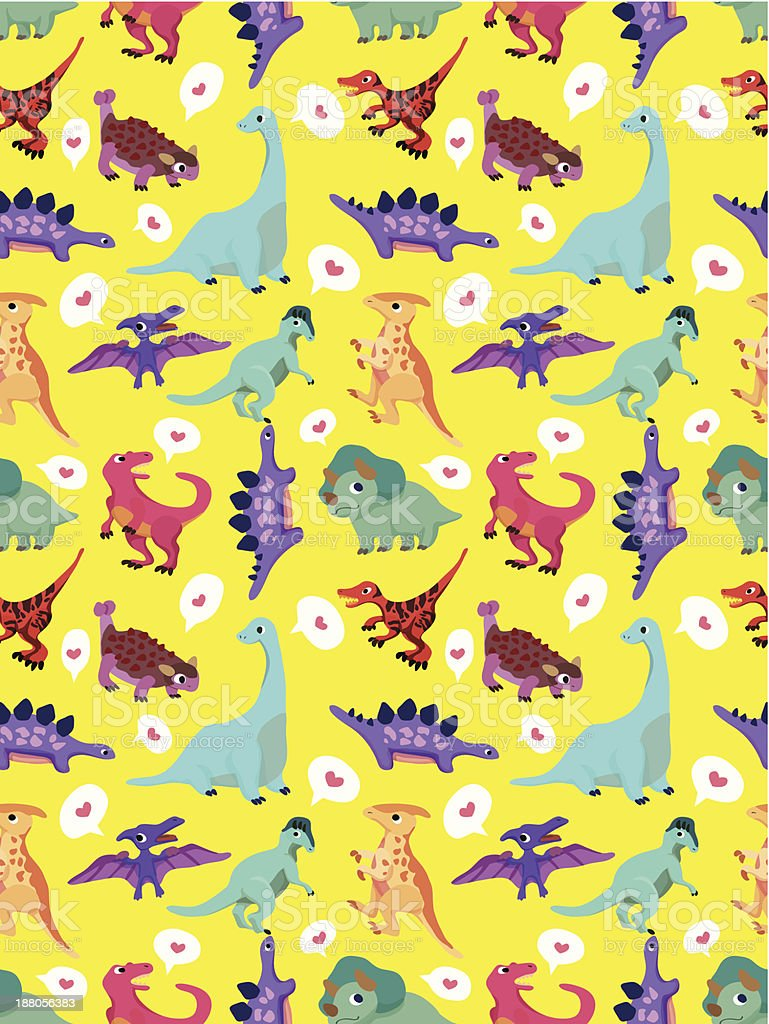 seamless Dinosaur pattern royalty-free seamless dinosaur pattern stock vector art & more images of animal