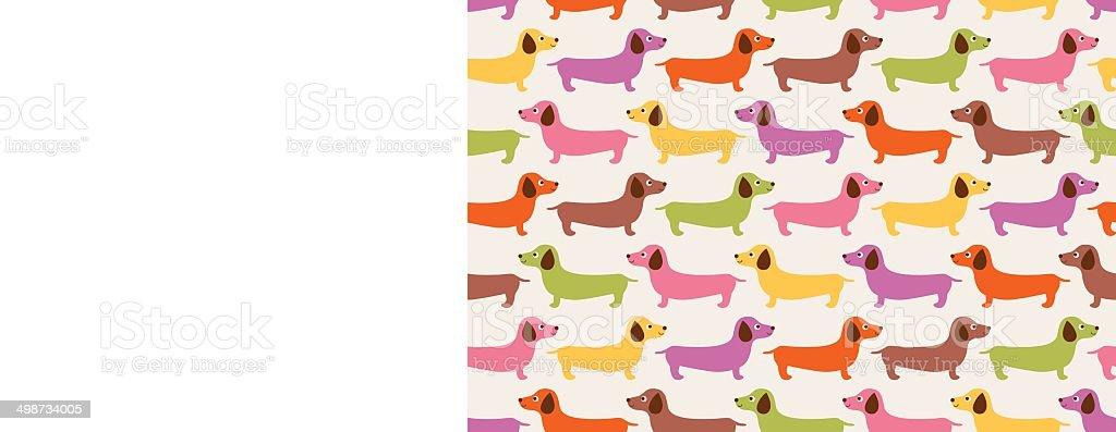 seamless dogs fabric pattern vector art illustration