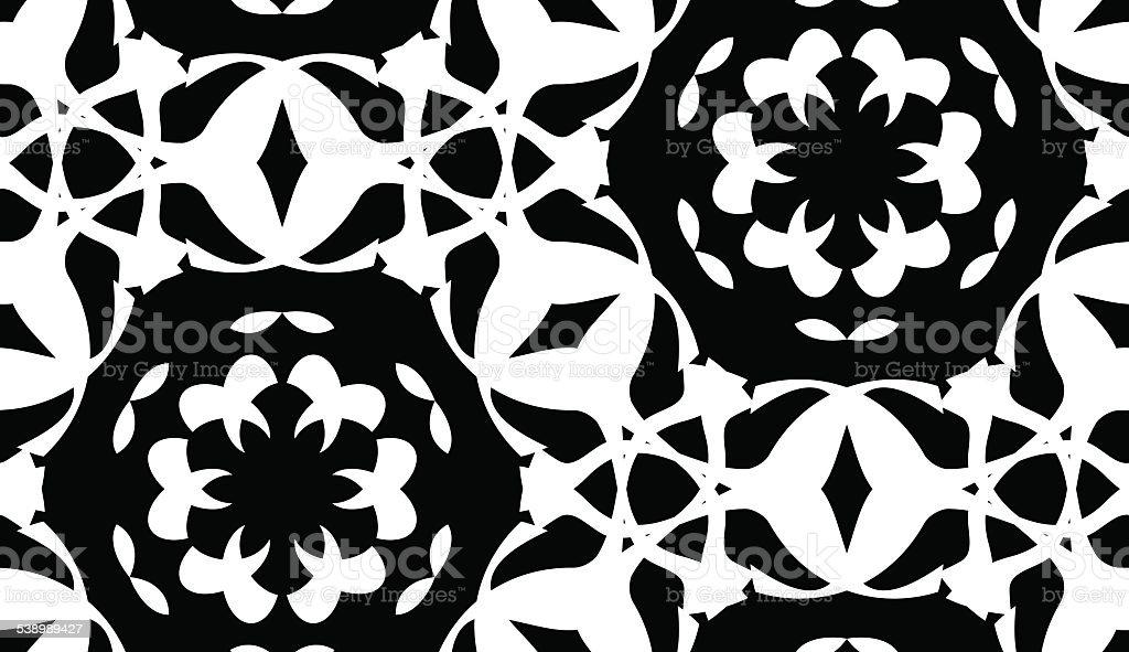 Seamless Doily Pattern vector art illustration