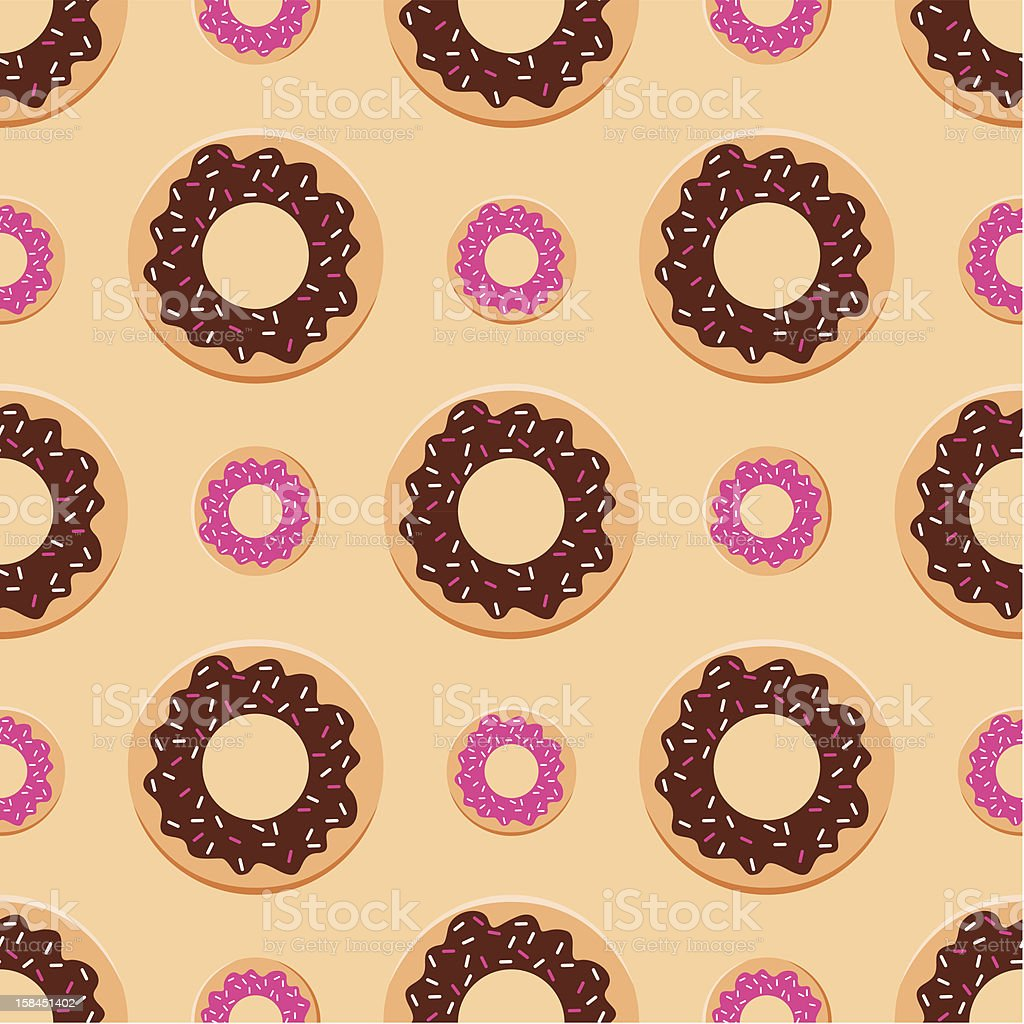 Seamless donuts pattern royalty-free stock vector art