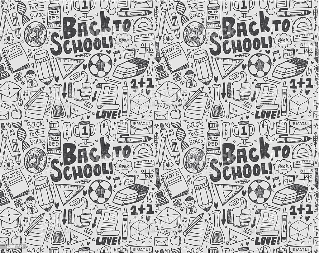 seamless doodle back to school pattern royalty-free seamless doodle back to school pattern stock vector art & more images of arrow symbol