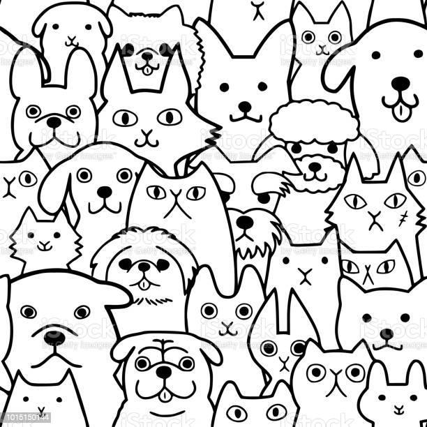 Seamless doodle dogs and cats faces line art background vector id1015150144?b=1&k=6&m=1015150144&s=612x612&h=tr0p45wwnpjkn3qtul3bcfupd7d1 fysseyn 3obr7g=