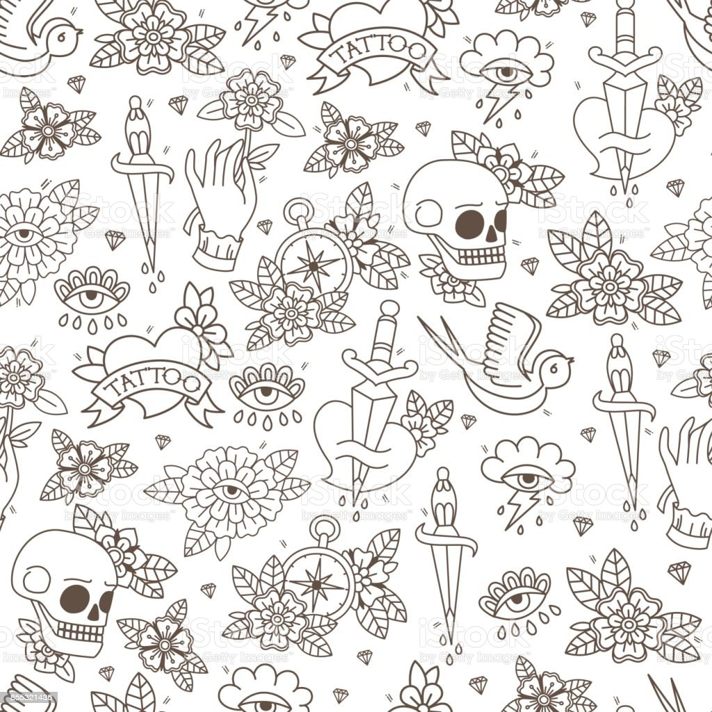 Seamless Doodle Pattern. vector art illustration