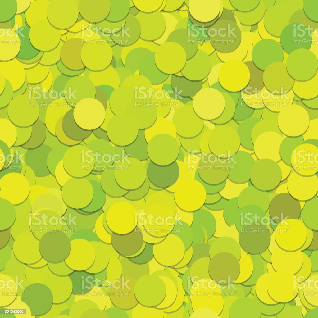 Seamless dot background pattern - vector graphic from circles in lime green tones with shadow effect vector art illustration
