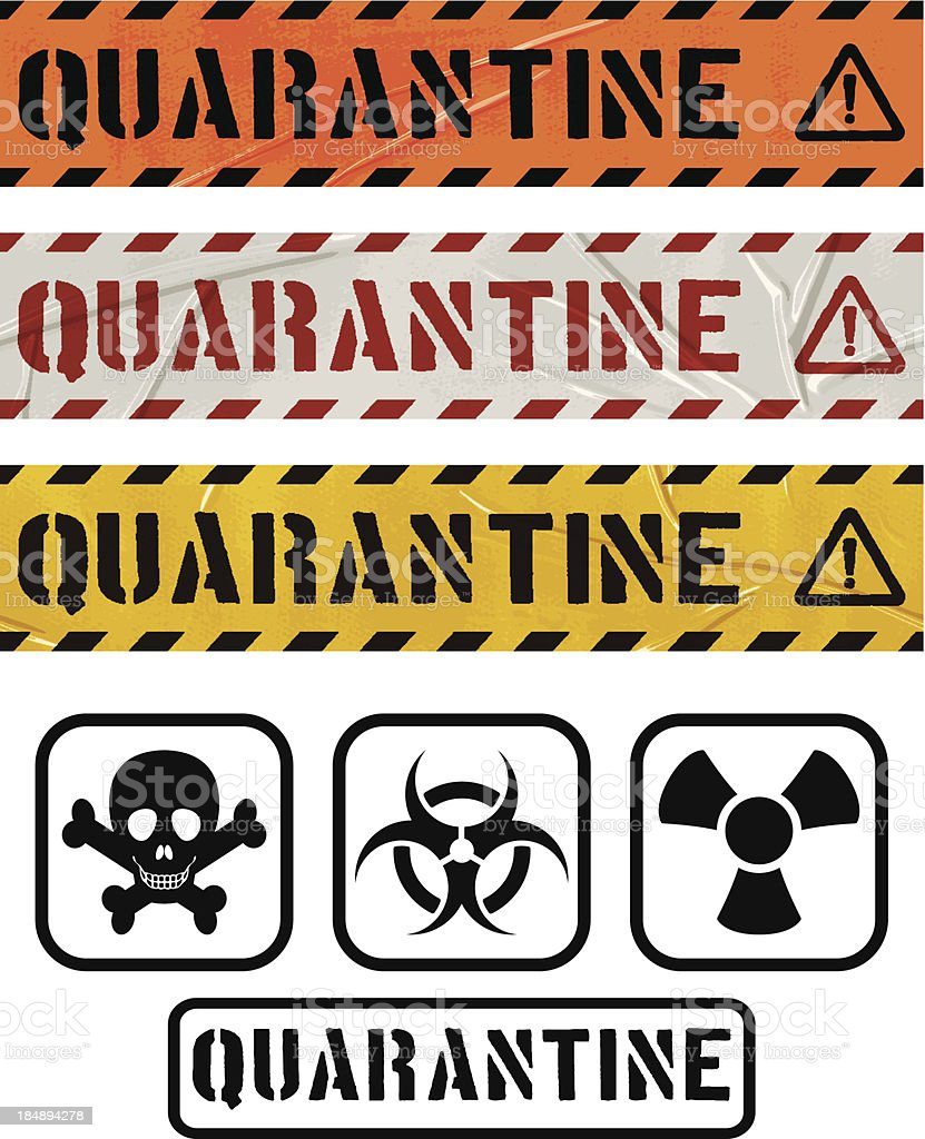 seamless duct tape sets_QUARANTINE royalty-free stock vector art