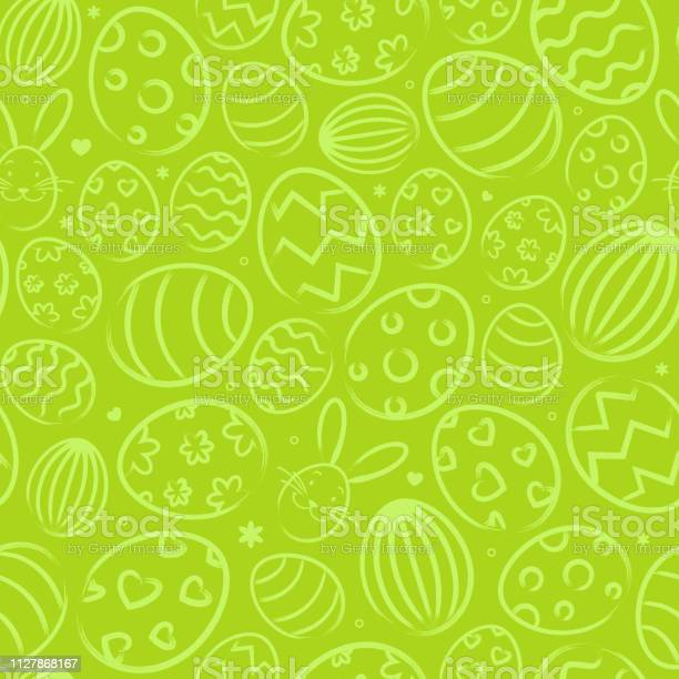 Seamless easter background pattern green with easter eggs vector id1127868167?b=1&k=6&m=1127868167&s=612x612&h=ap22xzgior2bw0nuxi0aes3oejtocjzadm5lgdg3tek=