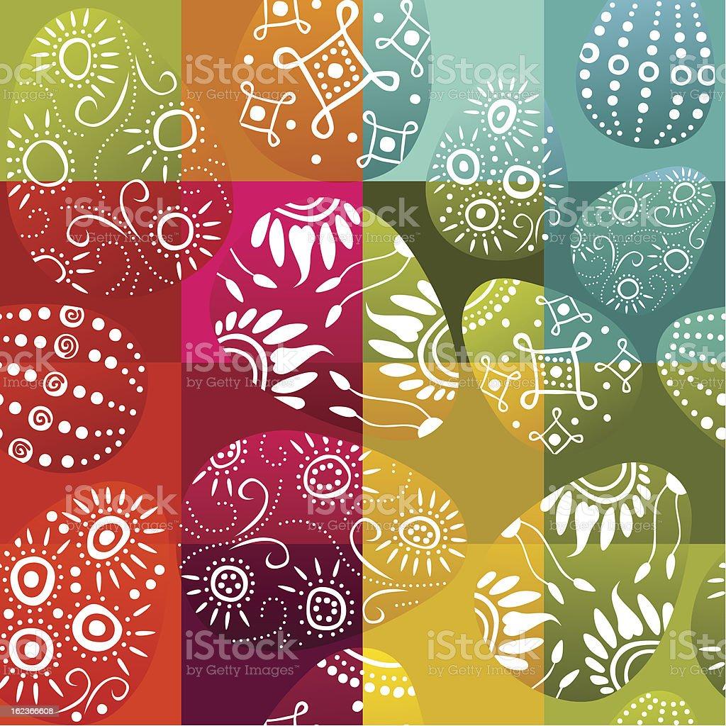 seamless Easter background vector art illustration
