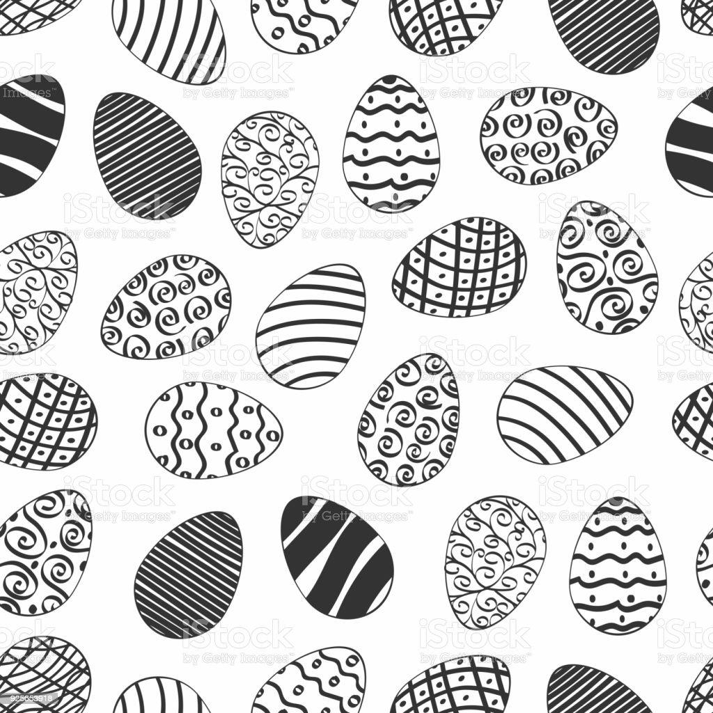 Ilustración de Pascua Día Huevo De Patrones Sin Fisuras Con Los ...