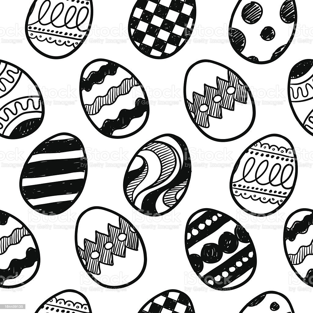 Seamless easter egg vector background vector art illustration