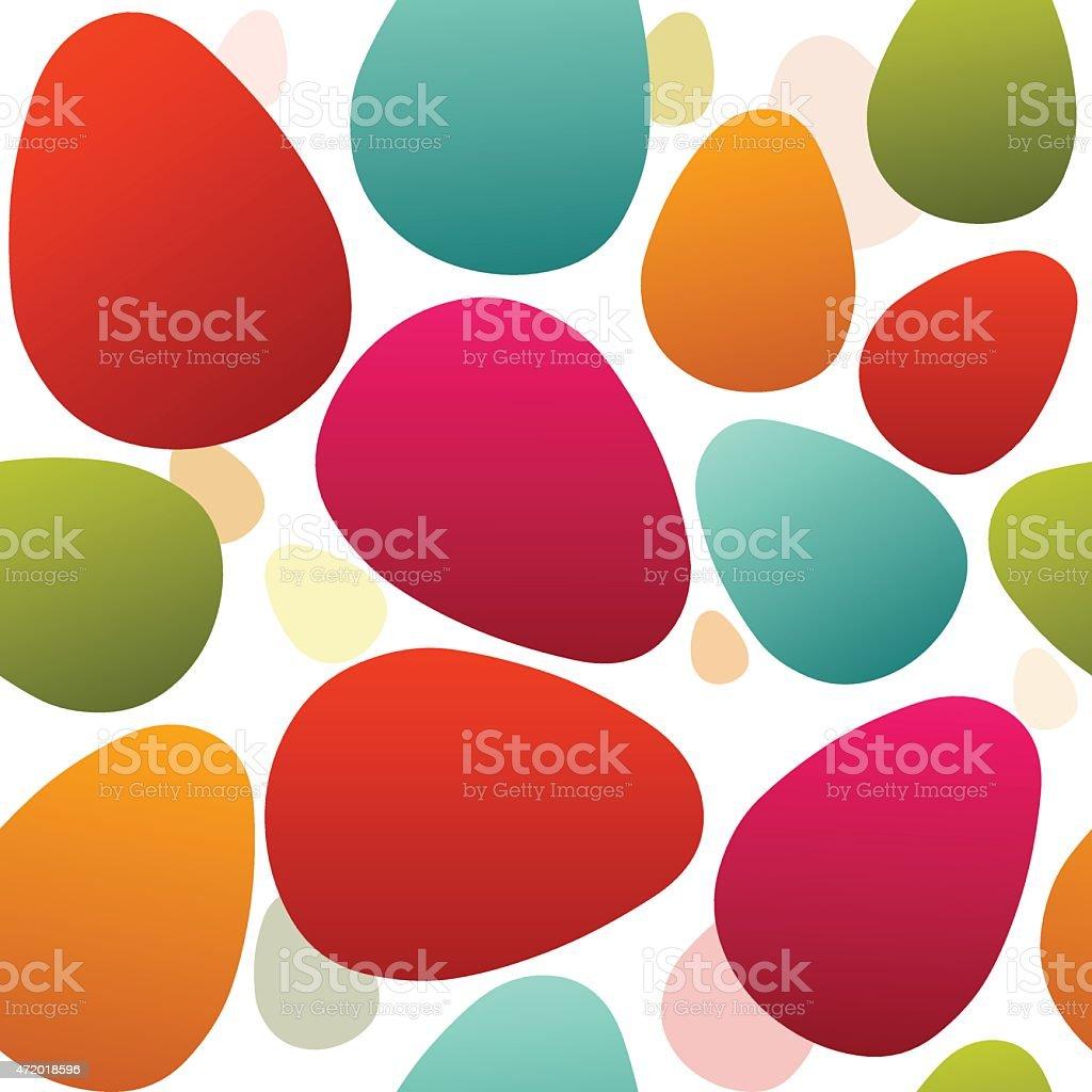 seamless easter eggs vector art illustration