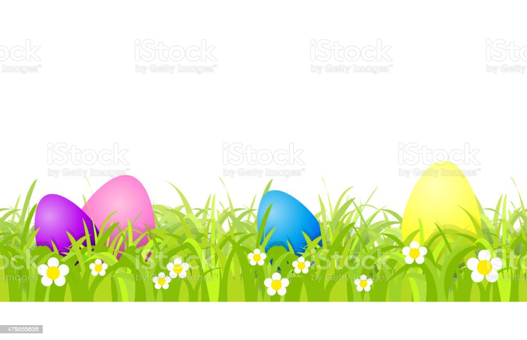 Seamless eggs vector art illustration