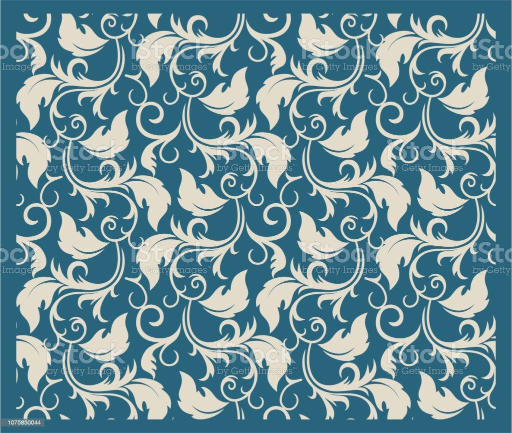 シームレスなエレガントなトスカ花の壁紙デザイン
