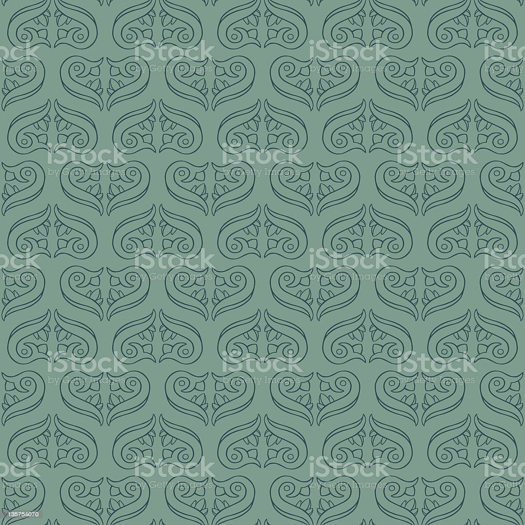 Seamless Elegant Turquoise Pattern royalty-free seamless elegant turquoise pattern stock vector art & more images of abstract