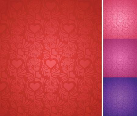 Seamless Elegant Valentine's Day Background