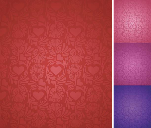 stockillustraties, clipart, cartoons en iconen met seamless elegant valentine's day background - flirten