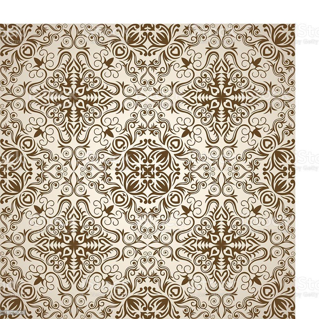 Seamless Elegant Wallpaper royalty-free stock vector art