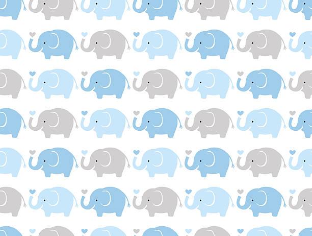Motif sans couture éléphants - Illustration vectorielle