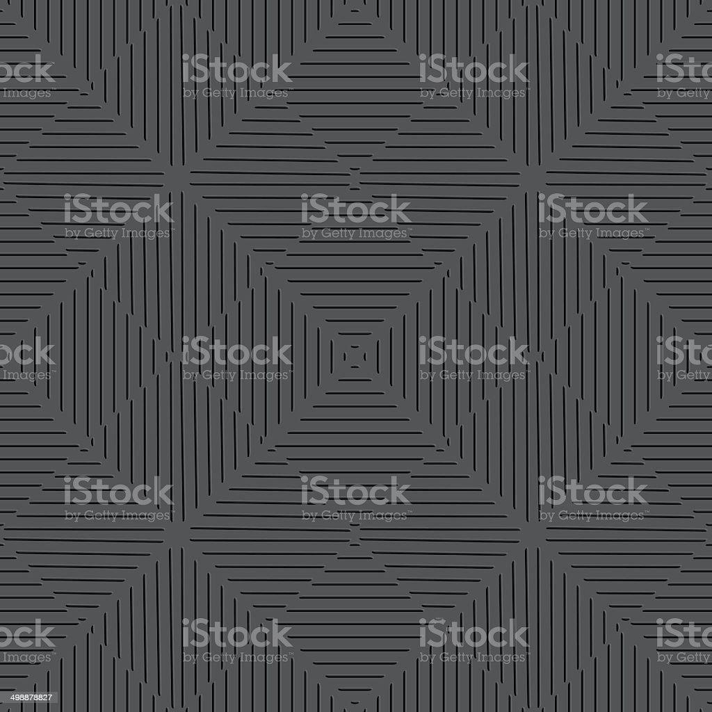 Seamless embossed  lines black vector art illustration