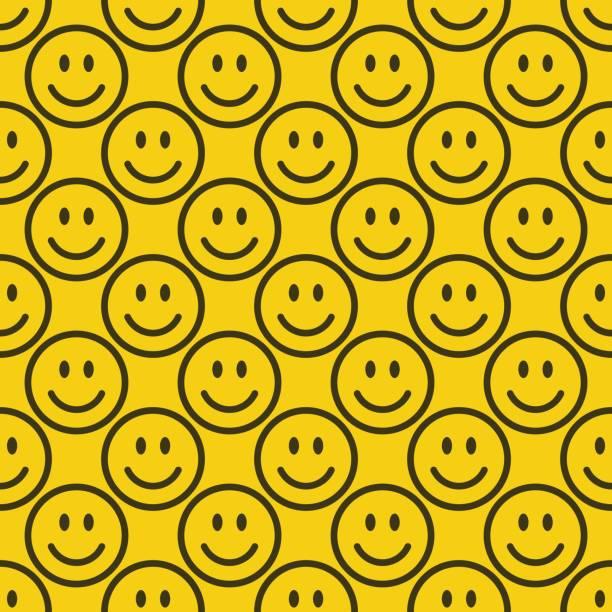 シームレスな絵文字のパターン - 笑顔点のイラスト素材/クリップアート素材/マンガ素材/アイコン素材